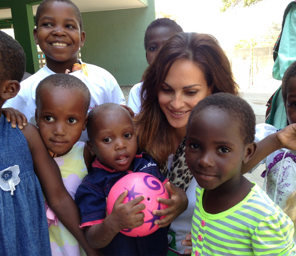 In Beira with the children for AMOR