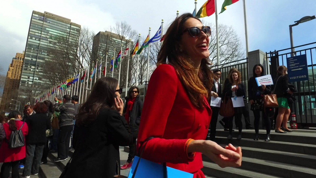 Arrival at the United Nations Headquarters in New York