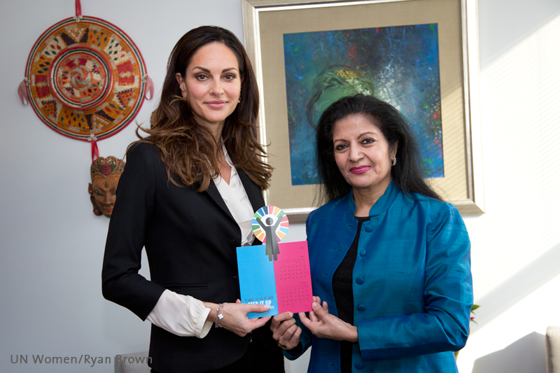 With Ms. Lakshmi Puri, Assistant Secretary-General of the United Nations and Deputy Executive Director of UN Women